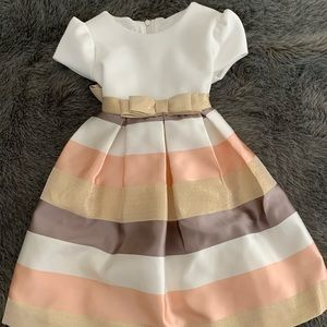 Bonnie Baby formal dress with front & back bow